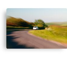 Driving fast Canvas Print