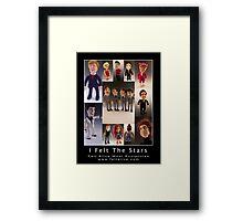 Needle Felted Celebrities by Felt Alive Framed Print
