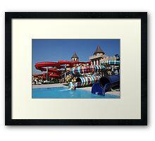 Water slide in Sunny Beach Aqua park, Bulgaria Framed Print
