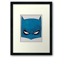 DKR Bat Cowl Framed Print