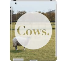 Cows. iPad Case/Skin