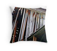 Decaying Barn Throw Pillow
