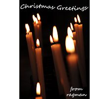 Candles at Christmas Photographic Print