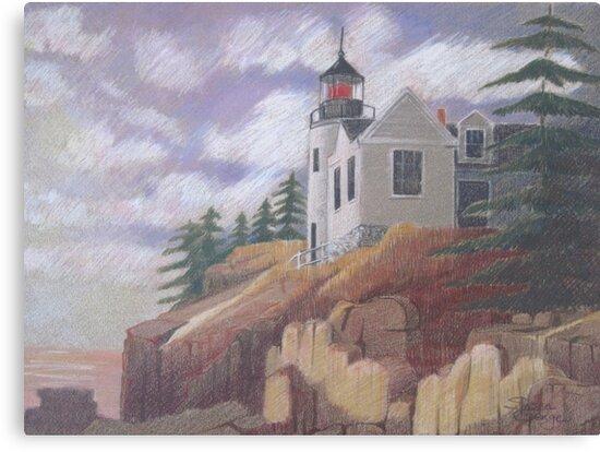 Light House - Maine by Susan Genge
