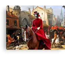 Whippet Art - The Hunt Canvas Print