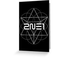 2NE1 Crush 1 Greeting Card