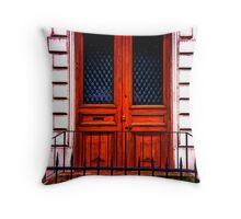Paris Doorway Throw Pillow