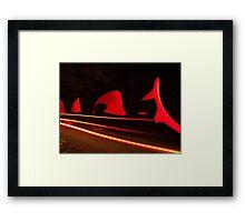 Stray Lightsabre Framed Print