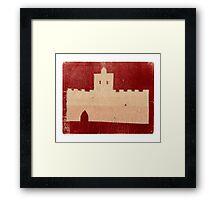 marrakech castle Framed Print