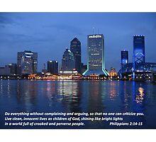 Jacksonville Blue Photographic Print