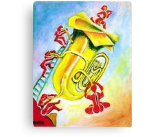 PLAYFUL TUBA Canvas Print