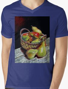 Apples and pears Pastel Painting Mens V-Neck T-Shirt