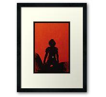 Black Widow [minimalist poster] Framed Print