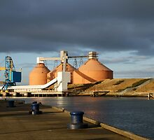 Alcan Silos over the River Blyth by laurawhitaker