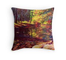 Summer Yosemite River Throw Pillow