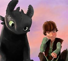 Toothless and Hiccup by little-ampharos