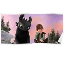 Toothless and Hiccup Poster