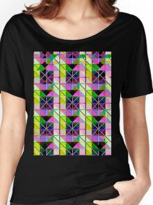 opto novo stain glass Women's Relaxed Fit T-Shirt