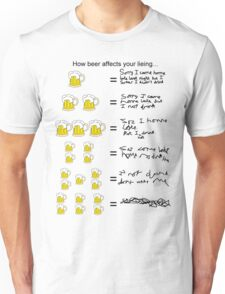 How beer affects your alibi Unisex T-Shirt
