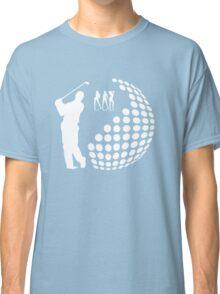 the golfer,white silhouette  Classic T-Shirt