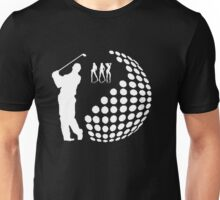 the golfer,white silhouette  Unisex T-Shirt