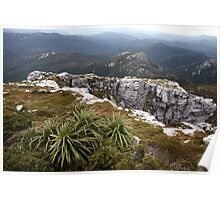 View from Frenchmans Cap, Franklin-Gordon Wild Rivers National Park, Tasmania Poster