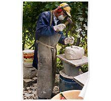 Stone Sculptor, Valdobbiadene, Italy Poster