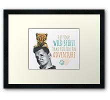 Wild Spirit: Wild Bill and Baby Wolf Framed Print