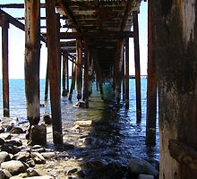 'Just hangin in there!' Old rotting Jetty. South Australia. by Rita Blom