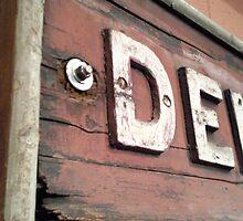Old Railway Signage by Sazfab