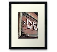 Old Railway Signage Framed Print