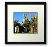 Old gravestones and ruins Framed Print
