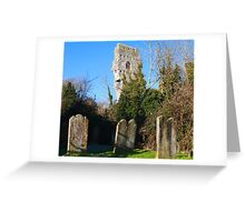 Old gravestones and ruins Greeting Card