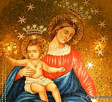Madonna and Child Mosaic by GraceNotes