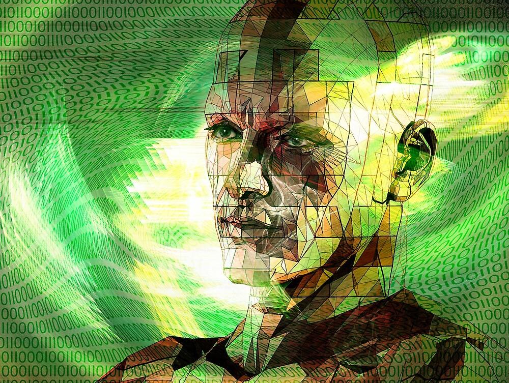 Digital man in cyberspace by Carol and Mike Werner