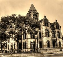 Erath County Courthouse (Sepia-toned) by Terence Russell