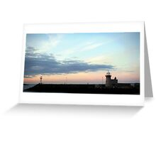 Sunset in Howth Lighthouse Greeting Card