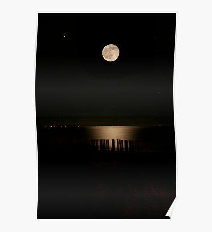 Full moon Advocate Harbour Nova Scotia Poster
