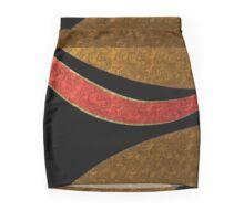 Metallic look, GOLD and SALMON modern art printed on...skirts, leggings, handbags, teas, duvets, cups & more Mini Skirt