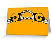 Yorkshire Rams Greeting Card