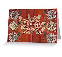 Earth Flowers and Tree Greeting Card
