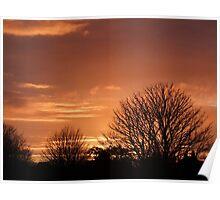 Sunset over Llangefni Anglesey Lake Poster