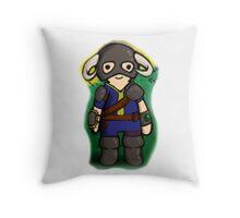 Dovahkiin The Vault Dweller Throw Pillow