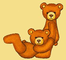 Teddy Bear Alphabet ~ Letter J ~ Initial by Paula Parker