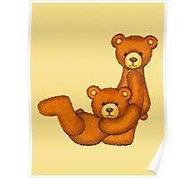 Teddy Bear Alphabet ~ Letter J ~ Initial Poster