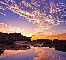 Hunters Beach Reflection by aabzimaging