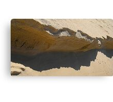 tide layer and shadow cliffs Canvas Print