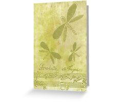 Dragonflies and Music Greeting Card