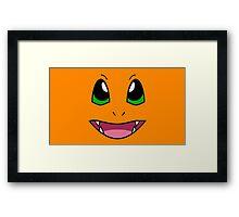 PokéFace - Charmander Framed Print