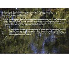 Define spirituality. Photographic Print